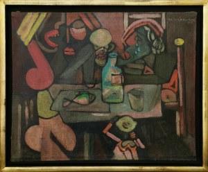 Klaudiusz JĘDRUSIK (1928-1986), Przy stole, 1975