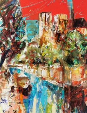 Krzysztof LUDWIN [KRIS] (ur. 1962), Energetyczne miasta I, z cyklu: Nerwowy ekspresjonizm, 2016