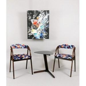 Andrzej FILIPOWICZ (ur. 1974), Kompozycja abstrakcyjna + para krzeseł