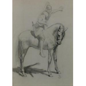 Jan STYKA (1858-1925), Studium postaci rzymianina na koniu