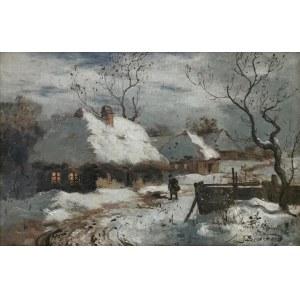 Seweryn BIESZCZAD (1852-1923), Pejzaż zimowy
