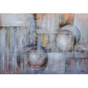 Anna Sandecka-Ląkocy, Blue Light, 2019r., olej na płótnie, 70x100cm, sygn.p.d
