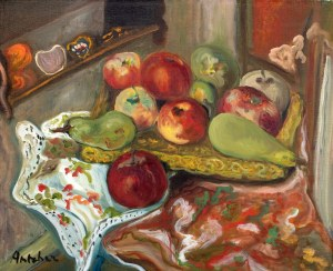 Isaac Antcher (1899 Perececina - 1992 Paryż ), Martwa natura z owocami, lata 30. XX w.