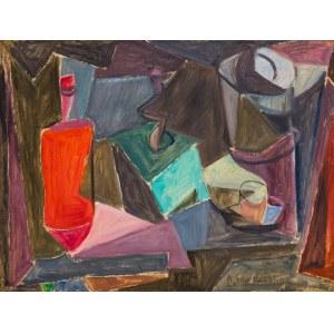 Ksenia Boguslavskaya - Puni (1892 – 1972), Kubistyczna martwa natura z młynkiem do kawy