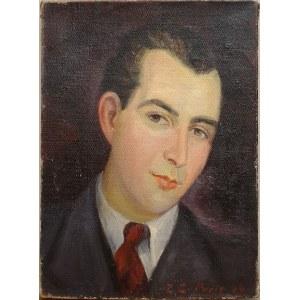 Zdzisław Cyankiewicz (Cyan) (1912 Czechowice - 1981 Paryż), Portret mężczyzny, 1944 r.