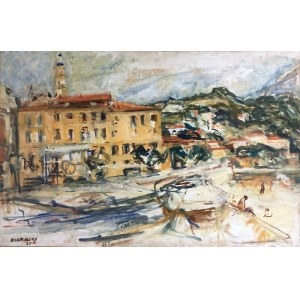 Issac Dobrinsky (1891 Makarov - 1973 Paris), Port Menton, 1955 r.