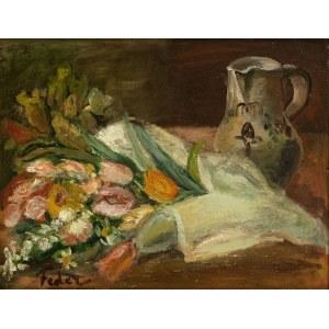 Adolphe Feder (1886 Odessa - 1943), Martwa natura z dzbanem i kwiatami