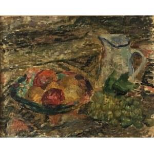 Pinchus Kremegne (1890 Zaloudock - 1981 Céret), Martwa natura z dzbanem i talerzem owoców