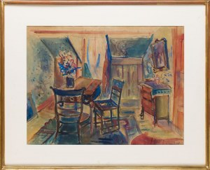 Pinchus Kremegne (1890 Zaloudock - 1981 Céret), Wnętrze