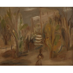 Léon Weissberg (1893 Przeworsk - 1943 Majdanek), Kobieta w wieczornym ogrodzie 1928 ok