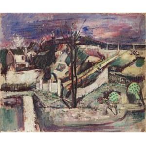 Joseph Pressmane (1904 Beresteczko - 1967 Paryż), Widok tętniącej życiem wioski