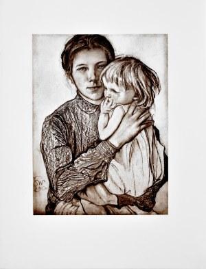 Stanisław Wyspiański (1869-1907), Kobieta z dziewczynką