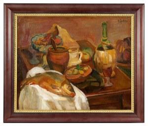 Henryk Epstein (1891-1944), Martwa natura z rybą