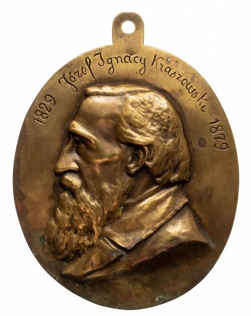 Polska, plakieta Ignacy Kraszewski 1829-1879, Godecki