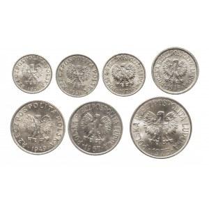 Polska, PRL 1944-1989, zestaw menniczych monet aluminiowych (2)