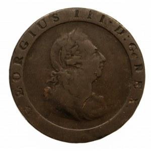 Wielka Brytania, Jerzy III 1760-1820, 1 pens 1797, Birmingham