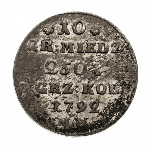Polska, Stanisław August Poniatowski 1764-1795, 10 groszy 1792 MW, Warszawa.