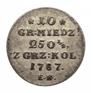 Polska, Stanisław August Poniatowski 1764-1795, 10 groszy 1787 MW, Warszawa.