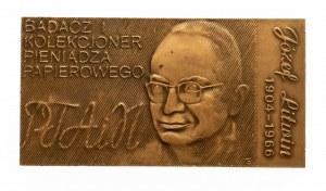 PRL, PLAKIETA NUMIZMATYCZNA PTAiN, Józef Litwin 1904 1966, 1983, Łódź.