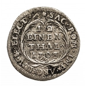 Polska, August II Mocny 1697-1733, 1/12 talara 1703 I.L.H. Drezno.