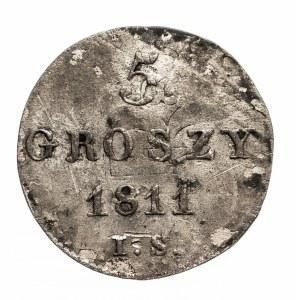 Księstwo Warszawskie 1807-1815, 5 groszy 1811 I.S. Warszawa.