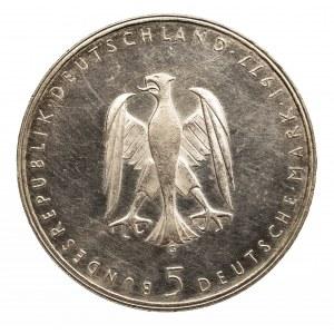 Niemcy, Republika Federalna, 5 marek 1977 G, Karlsruhe.