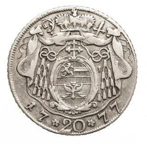 Austria, Salzburg 20 kreuzer 1777 M, Hieronymus Graf Colloredo 1772-1803.