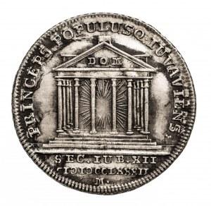 Austria, Salzburg, odbitka dukata w srebrze 1782 M, Hieronymus Graf Colloredo 1772-1803.