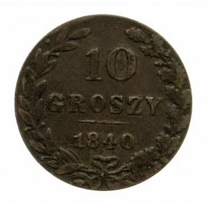 Polska, Zabór rosyjski, 10 groszy 1840 MW, Warszawa (2)