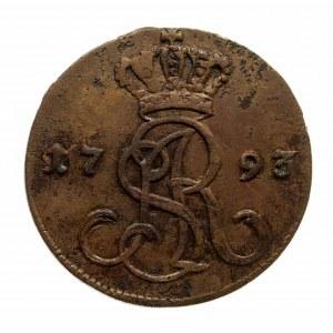 Polska, Stanisław August Poniatowski 1764–1795, grosz miedziany 1793 M.V., Warszawa