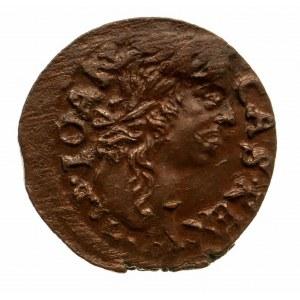 Polska, Jan II Kazimierz 1648 - 1668, szeląg miedziany (boratynka) 1661 T.L.B., Ujazdów (1)
