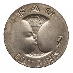 Polska, PRL 1944-1989, 10 złotych 1971 FAO - Fiat Panis, próba