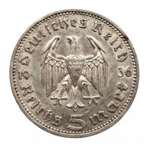 Niemcy, III Rzesza 1933-1945, 5 marek 1936 A, Hindenburg (1)