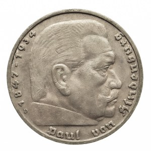 Niemcy, III Rzesza 1933-1945, 5 marek 1935 D, Hindenburg