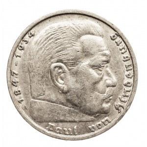 Niemcy, III Rzesza 1933-1945, 5 marek 1937 A, Hindenburg
