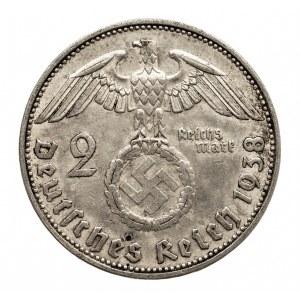 Niemcy, III Rzesza 1933-1945, 2 marki 1938 E, Hindenburg