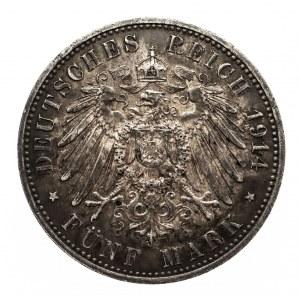 Niemcy, Cesarstwo Niemieckie 1871-1918, Prusy, 5 marek 1914 A