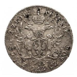 Polska, Królestwo Polskie 1815–1835, Aleksander I 1801–1825, 2 złote 1816 I.B., Warszawa