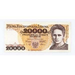 Polska, PRL 1944 - 1989, 20000 ZŁOTYCH 1.02.1989, seria B.