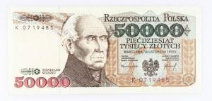 Polska od 1990, 50000 ZŁOTYCH 16.11.1993, seria K.