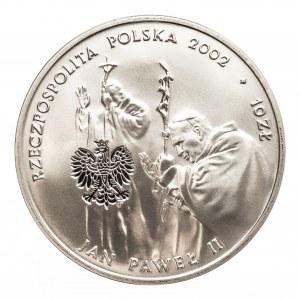 Polska,Rzeczpospolita Polska od 1989, 10 złotych 2002 Jan Paweł II, PONTIFEX MAXIMUS