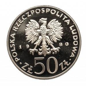 Polska, PRL 1944-1989, 50 złotych 1980 Bolesław Chrobry, ST. LUSTRZANY
