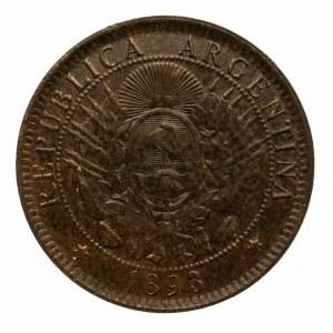 Argentyna, Republika, 2 peso 1893