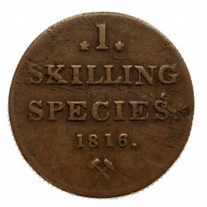 Norwegia, 1 skilling species 1816, Kongsberg