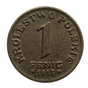 Polska, Królestwo Polskie, 1 fenig 1918, Stuttgart