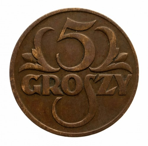 Polska, II Rzeczpospolita 1918-1939, 5 groszy 1931, Warszawa.