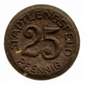 Niemcy, Turyngia, Miasto Lengsfeld, 25 fenigów 1921, porcelana, Miśnia