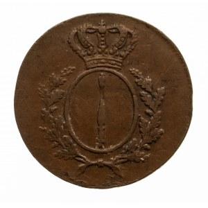 Niemcy, Prusy, 1 fenig 1810 A, berło, Berlin