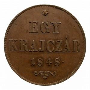 Węgry, Wiosna Ludów, Egy (1) krajczar 1848