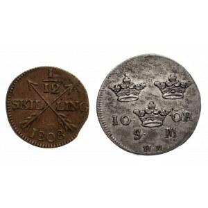 Szwecja, zestaw dwóch monet